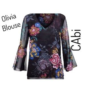 Cabi Olivia Blouse - 3/4 Bell Sleeves - Size Large